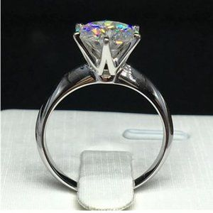 18K White Gold Ring Solitaire 2.0ct Diamond